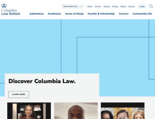 law.columbia.edu screenshot