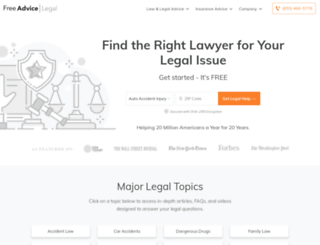 law.freeadvice.com screenshot