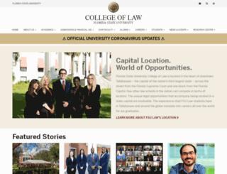 law.fsu.edu screenshot