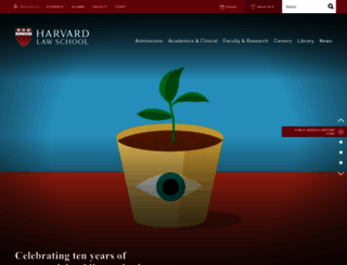 law.harvard.edu screenshot