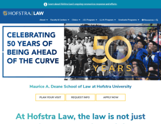 law.hofstra.edu screenshot