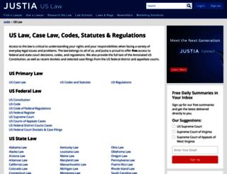 law.justia.com screenshot