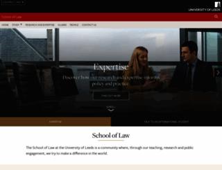 law.leeds.ac.uk screenshot
