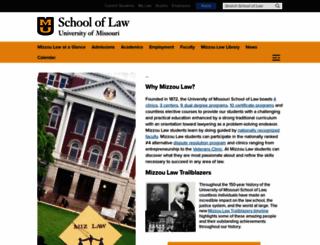 law.missouri.edu screenshot