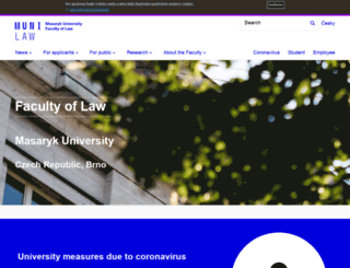 law.muni.cz screenshot