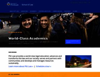 law.pitt.edu screenshot