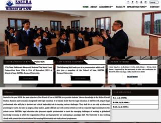 law.sastra.edu screenshot