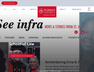 law.stjohns.edu screenshot