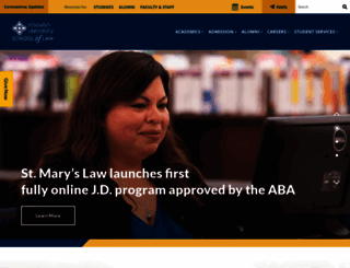 law.stmarytx.edu screenshot