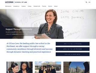 law.uconn.edu screenshot
