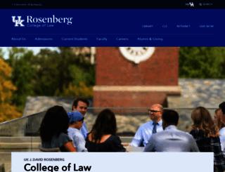 law.uky.edu screenshot