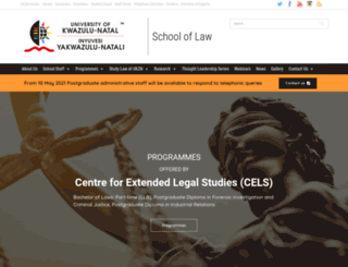 law.ukzn.ac.za screenshot