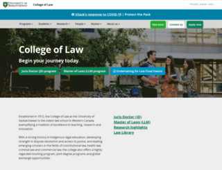 law.usask.ca screenshot