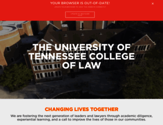 law.utk.edu screenshot