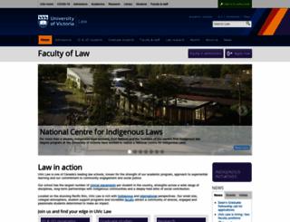 law.uvic.ca screenshot