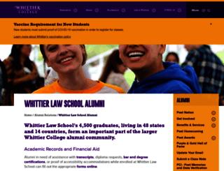 law.whittier.edu screenshot