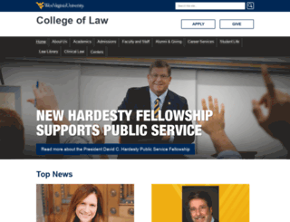 law.wvu.edu screenshot