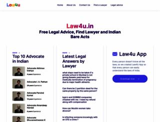 law4u.in screenshot