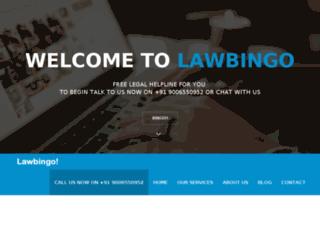 lawbingo.in screenshot