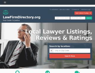 lawfirmdirectory.org screenshot