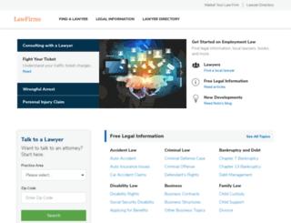 lawfirms.com screenshot