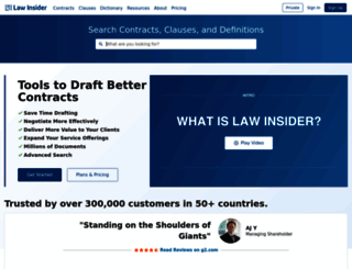lawinsider.com screenshot