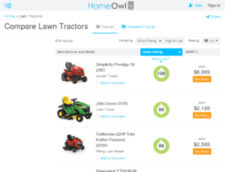 lawn-tractors.findthebest.com screenshot