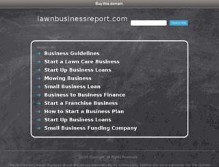 lawnbusinessreport.com screenshot