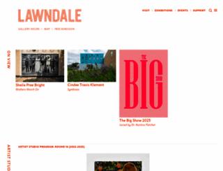 lawndaleartcenter.org screenshot