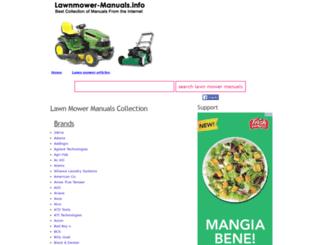 lawnmower-manuals.info screenshot