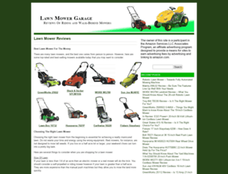 lawnmowergarage.com screenshot