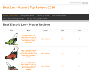 lawnmowerhq.drupalgardens.com screenshot