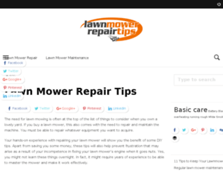 lawnmowerrepairtips.com screenshot