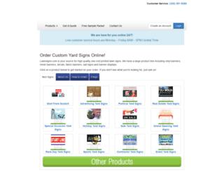 lawnsigns.com screenshot