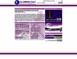 lawphil.net screenshot
