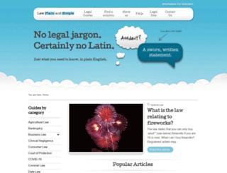 lawplainandsimple.com screenshot