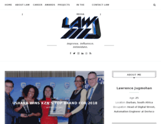 lawrencejugmohan.com screenshot