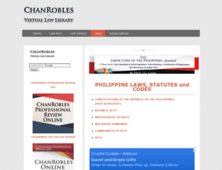 laws.chanrobles.com screenshot