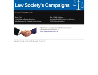 lawsocietymedia.org.uk screenshot