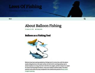lawsoffishing.wordpress.com screenshot