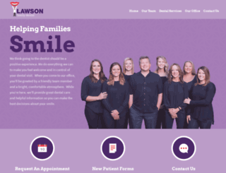 lawsonfamilydental.com screenshot