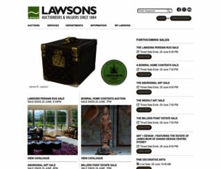 lawsons.com.au screenshot