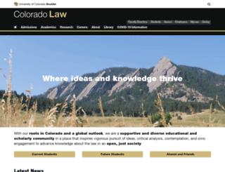 lawweb.colorado.edu screenshot