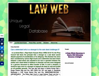 lawweb.in screenshot