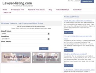 lawyer-listing.com screenshot