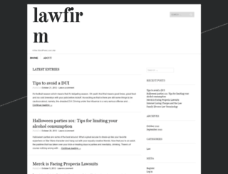 lawyerforlaw.wordpress.com screenshot
