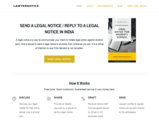 lawyernotice.com screenshot