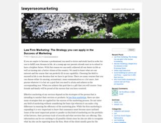 lawyerseomarketing.wordpress.com screenshot