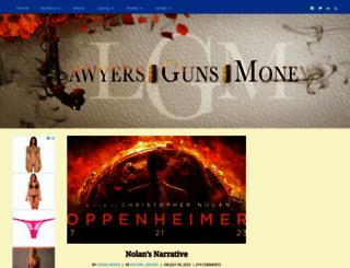 lawyersgunsmoneyblog.com screenshot