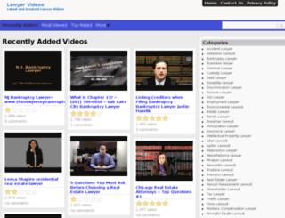 lawyervideos.info screenshot